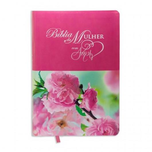 Bíblia da Mulher Amor Rosa